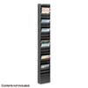 SAF4322BL Steel Magazine Rack, 23 Compartments, 10w x 4d x 65-1/2h, Black SAF 4322BL