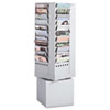 SAF4324GR Steel Rotary Magazine Rack, 44 Compartments, 14w x 14d x 48h, Gray SAF 4324GR
