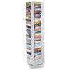 SAF4325GR Steel Rotary Magazine Rack, 92 Compartments, 14w x 14d x 68h, Gray SAF 4325GR