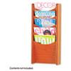 SAF4330CY Solid Wood Wall-Mount Literature Display Rack, 11-1/4w x 3-3/4d x 24h, Cherry SAF 4330CY