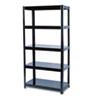 SAF5245BL Boltless Steel Shelving, 5 Shelves, 36w x 18d x 72h, Black SAF 5245BL