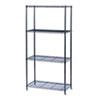 SAF5276BL Commercial Wire Shelving, 4 Shelves, 36w x 18d x 72h, Black SAF 5276BL