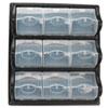 SAF6110BL Polypropylene Panel Storage w/9 Bins, 18 3/8 x 5 1/4 x 20 1/2, Black SAF 6110BL