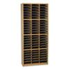 SAF7131MO Steel/Fiberboard Literature Sorter, 72 Sections, 32 1/4 x 13 1/2 x 75, Med Oak SAF 7131MO