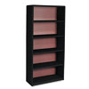 SAF7173BL Value Mate Series Bookcase, 5 Shelves, 31-3/4w x 13-1/2d x 67h, Black SAF 7173BL