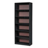 SAF7174BL Value Mate Series Bookcase, 6 Shelves, 31-3/4w x 13-1/2d x 80h, Black SAF 7174BL