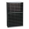 SAF9231BLR Steel/Fiberboard E-Z Stor Sorter, 60 Sections, 37 1/2 x 12 3/4 x 60, Black SAF 9231BLR