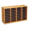 SAF9424MO Wood/Laminate Literature Sorter, 36 Sections, 39 3/8 x 11 3/4 x 24, Medium Oak SAF 9424MO