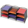 SAF9430BL Onyx Steel Mesh Lliterature Sorter, 12 Compartments, Black SAF 9430BL