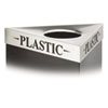 SAF9560PC Triangular Lid For Trifectat Receptacle, Laser Cut