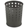 SAF9740BL Bubble Wastebasket, Round, Steel, 6 gal, Black SAF 9740BL