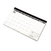 Compact monthly desk pad/wall calendar.