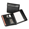 Samsill Professional Tri-Fold Padfolio with Calculator