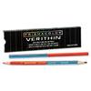 SAN02456 Verithin Double-Ended Colored Pencils, Blue/Red, Dozen SAN 02456