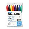 SAN16078 Vis-à-Vis Wet-Erase Marker, Fine Point, Assorted, 8/Set SAN 16078