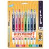 SAN1739929 Signo Gel 207 Roller Ball Retractable Gel Pen, Assorted Ink, Medium, 8 per Set SAN 1739929