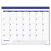 AAGSK2517 Recycled Fashion Desk Pad, Blue, 22