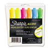 SAN25076 Accent Tank Style Highlighter, Chisel Tip, Assorted Colors, 6/Set SAN 25076