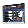 SAN83661 Dry Erase Markers, Chisel Tip, Black, 4/Pack SAN 83661