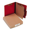 ACC15649 Presstex Classification Folders, Letter, Four-Section, Executive Red, 10/Box ACC 15649