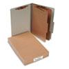ACC16056 Pressboard 25-Pt. Classification Folders, Legal, Six-Section, Mist Gray, 10/Box ACC 16056