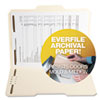 SJPS11571 Archival File Folders, Antimicrobial, 1/3 Cut Top Tab, Letter, Manila, 50/Box SJP S11571