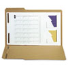 SJPS12561 Reinforced Kraft Folder, Two Fasteners, 1/3 Cut Top Tab, Legal, Brown, 50/Box SJP S12561