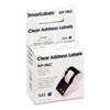 SKPSLP1RLC Self-Adhesive Address Labels, 1-1/8 x 3-1/2, Clear, 130/Box SKP SLP1RLC
