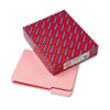 SMD10263 Interior File Folders, 1/3 Cut Top Tab, Letter, Pink, 100/Box SMD 10263