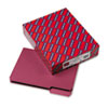 SMD10275 Interior File Folders, 1/3 Cut Top Tab, Letter, Maroon, 100/Box SMD 10275