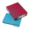 SMD10291 Interior File Folders, 1/3 Cut Top Tab, Letter, Teal 100/Box SMD 10291
