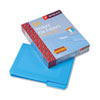 SMD10503 Waterproof Poly File Folders, 1/3 Cut Top Tab, Letter, Blue, 24/Box SMD 10503