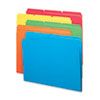 SMD11943 File Folders, 1/3 Cut Top Tab, Letter, Bright Assorted Colors, 100/Box SMD 11943