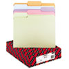 SMD11953 File Folders, 1/3 Cut Top Tab, Letter, Assorted Colors, 100/Box SMD 11953