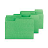 SMD11985 SuperTab Colored File Folders, 1/3 Cut, Letter, Green, 100/Box SMD 11985