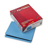 SMD12010 File Folders, Straight Cut, Reinforced Top Tab, Letter, Blue, 100/Box SMD 12010
