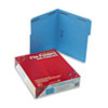 SMD12040 Folders, Two Fasteners, 1/3 Cut Assorted Top Tab, Letter, Blue, 50/Box SMD 12040
