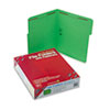 SMD12140 Folders, Two Fasteners, 1/3 Cut Assorted Top Tab, Letter, Green, 50/Box SMD 12140