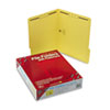 SMD12940 Folders, Two Fasteners, 1/3 Cut Assorted Top Tab, Letter, Yellow, 50/Box SMD 12940