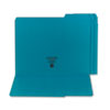 SMD13134 File Folders, 1/3 Cut, Reinforced Top Tab, Letter, Teal, 100/Box SMD 13134
