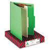 SMD13702 Top Tab Classification Folder, One Divider, Four-Section, Green, 10/Box SMD 13702