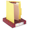 SMD13704 Top Tab Classification Folder, One Divider, Four-Section, Yellow, 10/Box SMD 13704