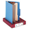 SMD14001 Top Tab Classification Folders, Two Dividers, Six-Sections, Blue, 10/Box SMD 14001