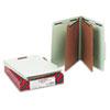 SMD14076 Pressboard Classification Folders, Tab, Letter, Six-Section, Gray-Green, 10/Box SMD 14076