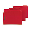 SMD14936 Colored Pressboard Fastener Folders, Letter, 1/3 Cut, Bright Red, 25/Box SMD 14936