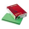 SMD17110 File Folders, Straight Cut, Reinforced Top Tab, Legal, Green, 100/Box SMD 17110