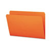 SMD17510 File Folders, Straight Cut, Reinforced Top Tab, Legal, Orange, 100/Box SMD 17510