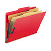 SMD19031 Pressboard Classification Folders, Legal, Six-Section, Bright Red, 10/Box SMD 19031