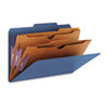 SMD19077 Pressboard Classification Folders, Two Pocket Dividers, Legal, Dark Blue, 10/Box SMD 19077