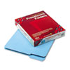 SMD21530 Recycled Folders, One Inch Expansion, 1/3 Cut Top Tab, Letter, Blue 25/Box SMD 21530